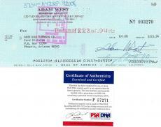 Adam West Signed Authentic Autographed Cancelled Check PSA/DNA #P57271