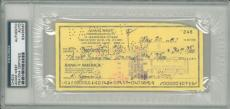 Adam West Signed Authentic Autographed Check Slabbed PSA/DNA #83436387