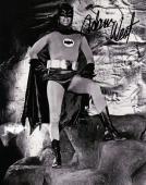 Adam West Signed Autographed 8X10 Photo Batman Posing in Batcave B/W JSA