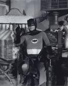 Adam West Signed Autographed Batman Bw Photo Bam Zoom!!