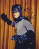 Adam West Signed Autographed Batman Color Photo Bam Zoom!! To Kaitlyn