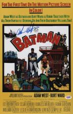Adam West Signed Batman 11x17 Movie Poster Psa Coa Ad48110