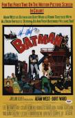 Adam West Signed Batman 11x17 Movie Poster Psa Coa Ad48111