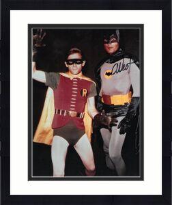 Adam West signed Batman 8x10 Photo w/ Robin- PSA Holo #AD55354