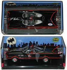 Adam West Signed Batman Batmobile 1966 TV Series Style Hot Wheels