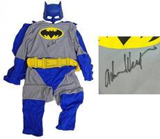 Adam West Signed Batman Grey & Blue Full Youth Costume