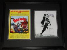 Adam West Signed Framed 16x20 Batman '66 Photo Set