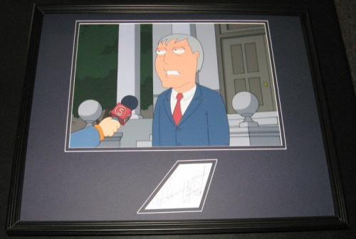 Adam West Signed Framed 16x20 Photo Display JSA Family Guy Batman