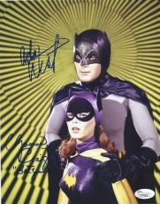 Adam West & Yvonne Craig Signed 'batman' 8x10 Photo Autograph Jsa Coa