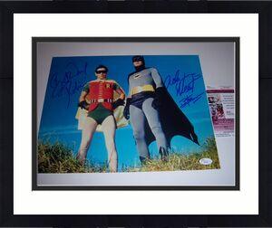 Adam West,burt Ward Batman Deceased Jsa/coa Signed 11x14 Photo