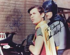 ADAM WEST+BURT WARD SIGNED 8x10 PHOTO       BATMAN+ROBIN       TO DAVID      JSA