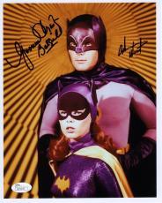 ADAM WEST+YVONNE CRAIG SIGNED 8x10 PHOTO      BATMAN+BATGIRL   VERY RARE     JSA