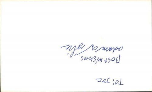 "ADAM WYLIE SEINFELD Signed 3""x5"" Index Card"
