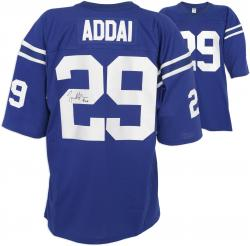Joseph Addai Autographed Jersey - Blue Custom Mounted Memories