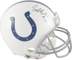 Joseph Addai Autographed Proline Helmet - Mounted Memories