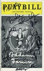Addams Family Hand Signed Ny City Playbill+coa        Brooke Shields