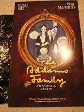 Addams Family Hand Signed Ny City  Broadway Poster  Signed By All Awesome+rare