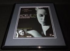 Adele 21 2011 Framed 11x14 ORIGINAL Vintage Advertisement