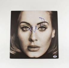 Adele '25' Autographed Signed Album LP Record Certified Authentic PSA/DNA COA
