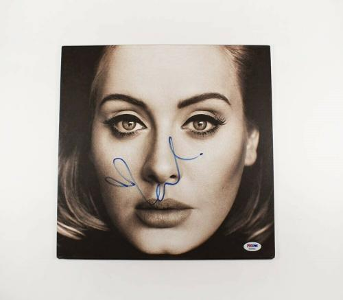 Adele Autographed Signed Album LP Record Certified Authentic PSA/DNA COA
