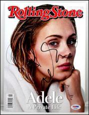 Adele Autographed Signed Rolling Stones Magazine Hello 25 Psa Psa/dna Coa Loa