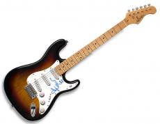 Adele Autographed Signed Sunburst Guitar PSA AFTAL UACC RD
