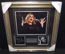 Adele Laser Engraved Signature 11x14 Photo Framed Collage Hello Grammy Award