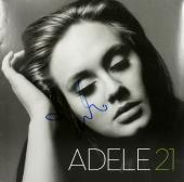 Adele Signed 21 Album Cover w/ Vinyl Autographed BAS #A02104