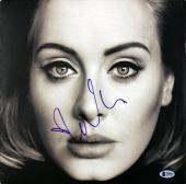 Adele Signed 25 Album Cover W/ Vinyl Autographed BAS #A80583