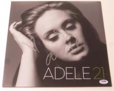 Adele Signed Album Vinyl 21 Authentic Autograph Psa/dna Loa Coa