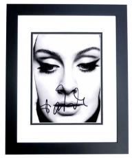 Adele Signed - Autographed Singer - Songwriter 8x10 inch Photo BLACK CUSTOM FRAME - Guaranteed to pass PSA or JSA