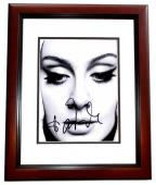 Adele Signed - Autographed Singer - Songwriter 8x10 inch Photo MAHOGANY CUSTOM FRAME - Guaranteed to pass PSA or JSA