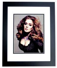 Adele Signed - Autographed Singer - Songwriter Concert 11x14 inch Photo BLACK CUSTOM FRAME - Guaranteed to pass PSA or JSA