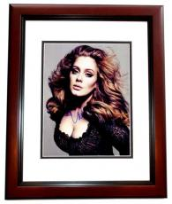 Adele Signed - Autographed Singer - Songwriter Concert 11x14 inch Photo MAHOGANY CUSTOM FRAME - Guaranteed to pass PSA or JSA