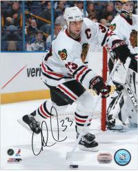 "Adrian Aucoin Chicago Blackhawks Autographed 8"" x 10"" By Net Photograph"