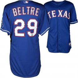 Adrian Beltre Texas Rangers Game Used Blue Jersey from 5/2/14 vs Los Angeles Angels of Anaheim