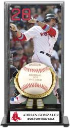 Adrian Gonzalez Boston Red Sox Baseball Display Case with Gold Glove & Plate - Mounted Memories