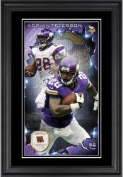 Adrian Peterson Minnesota Vikings 10'' x 18'' Vertical Framed Photograph with Piece of Game-Used Football - Limited Edition of 250