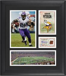 "Adrian Peterson Minnesota Vikings Framed 15"" x 17"" Collage with Game-Used Football"