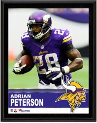 Adrian Peterson Minnesota Vikings Sublimated 10.5'' x 13'' Plaque - Mounted Memories