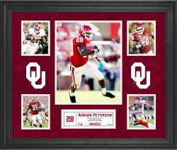 Adrian Peterson Oklahoma Sooners Framed 5-Photo Collage