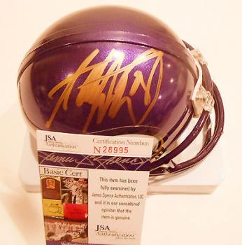 Adrian Peterson Signed Mini Helmet - w COA