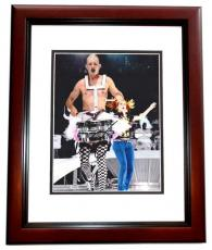 Adrian Young Autographed Photograph - NO DOUBT Drummer 8x10 MAHOGANY CUSTOM FRAME