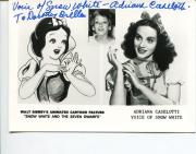 Adriana Caselotti Disney Voice Of Snow White Rare Signed Autograph Photo