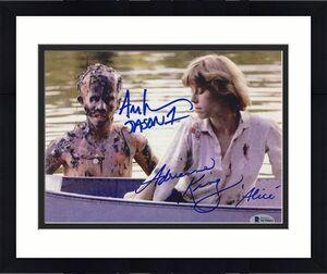 ADRIENNE KING & ARI LEHMAN Friday the 13th JASON 1 signed 8x10 photo ~ BAS COA