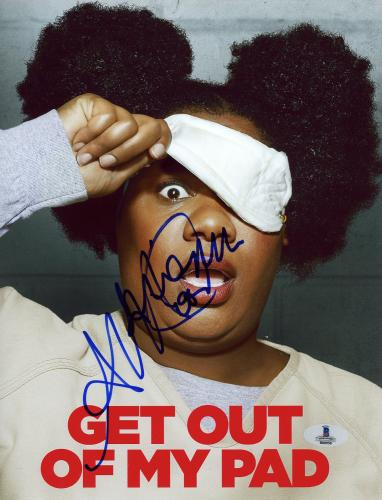 "Adrienne Moore Autographed 8"" x 10"" Orange is The New Black Get Out of My Pad Photograph - Beckett COA"