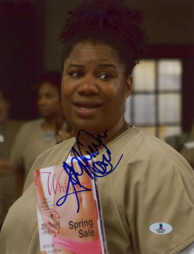 "Adrienne Moore Autographed 8"" x 10"" Orange is The New Black Magazine Photograph - Beckett COA"
