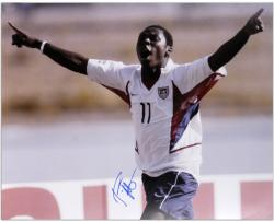 Freddie Adu US Soccer Team Autographed 16'' x 20'' Celebration Photograph