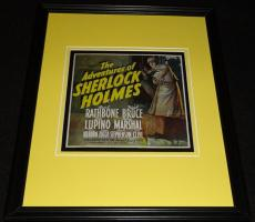 Adventures of Sherlock Holmes Framed 11x14 Poster Display Official Repro