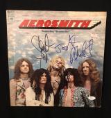 Aeromith Signed 1st Vinyl Record Lp All 5 Complete Jsa Loa Steven Tyler